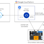 Diagram NetApp Cloud Tiering mit Google